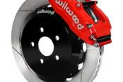 Wilwood® - Superlite 6 Big Brake Front Brake Kit with Hat with Red Powder Coated Calipers