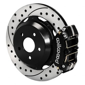 Wilwood® - Dynapro Rear Brake Kit For OE Parking Brake with Black Powder Coated Calipers