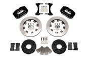 Wilwood® - Dynapro Radial Big Brake Front Brake Kit with Hat with Black Anodized Calipers