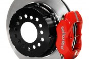 Wilwood® - Dynapro Radial Big Brake Front Brake Kit with Hat with Red Powder Coated Calipers