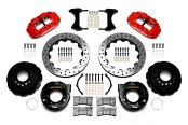 Wilwood® - Forged Narrow Superlite 4R Big Brake Rear Parking Brake Kit with Red Powder Coated Calipers