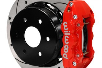 Wilwood® 140-9407-DR - W4A Big Brake Truck Rear Brake Kit with Red Powder Coated Calipers