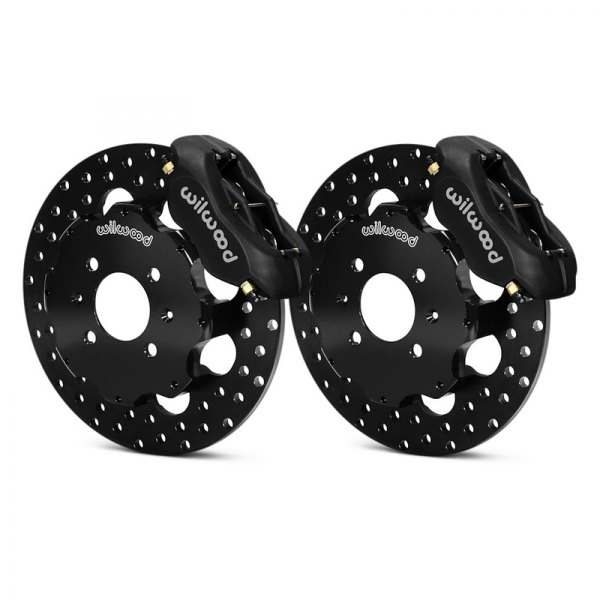 Wilwood® - Forged Dynalite Front Drag Brake Kit with Hat with Black Anodized Calipers