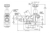 Wilwood® - Black E-coat Proportioning Valve Dimensions