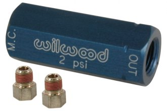 Wilwood® 260-3278 - Blue Residual Pressure Valve with Fittings