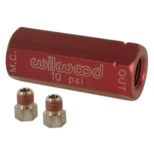 Wilwood® - Red Residual Pressure Valve with Fittings