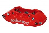 Wilwood® - W6A 6-Pistons Red Powder Coated Front Driver Side Caliper