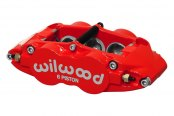 Wilwood® - Forged Narrow Superlite 6R 6-Pistons Red Powder Coated Front Passenger Side Caliper