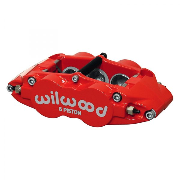 Wilwood® - Forged Narrow Superlite 6R 6-Pistons Red Powder Coated Front Driver Side Caliper