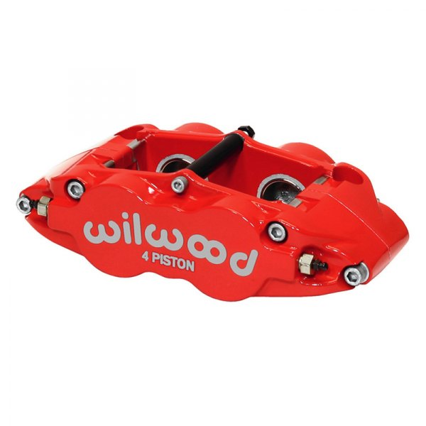 Wilwood® - Forged Narrow Superlite 4R 4-Pistons Red Powder Coated Rear Caliper