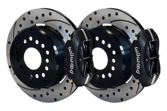 Wilwood® - Street Performance Drilled and Slotted Rear Brake Kit with Parking Brake Assembly