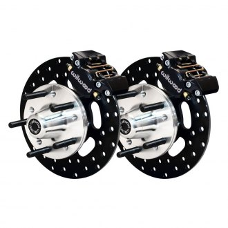 Wilwood® - Drag Race Drilled Rotor Front Brake Kit