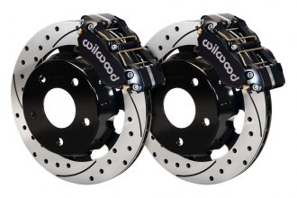 Wilwood® - Drag Race SRP Drilled and Slotted Narrow Dynapro Front Brake Kit