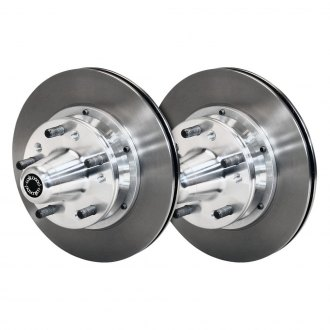 Wilwood® - Ultralite HP Plain Vented 2-Piece Front 30 Straight Vane Brake Rotors and Hub Assembly