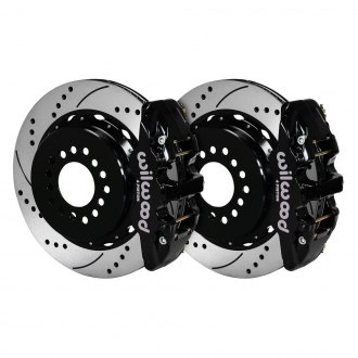 Wilwood® - Street Performance Drilled and Slotted Rotor Rear Brake Kit with Parking Brake Assembly