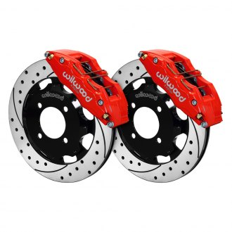 Wilwood® - Street Performance Drilled and Slotted Rotor DynaPro Caliper Front Brake Kit