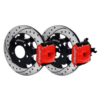 Wilwood® - Combination Parking Drilled and Slotted Rotor Rear Brake Kit with Parking Brake Assembly