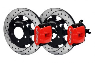 Wilwood® 140-11979-DR - Combination Parking Drilled and Slotted Rear Brake Kit