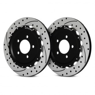 Wilwood® - Drilled and Slotted Rear Rotors