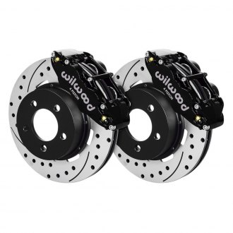 Wilwood® - Street Performance Drilled and Slotted Rotor Forged Narrow Superlite Caliper Front Brake Kit