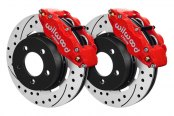 Wilwood® - Street Performance Drilled and Slotted FNSL4R Front Brake Kit