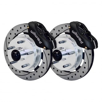 Wilwood® - Street Performance Drilled and Slotted Rotor Forged Dynalite Caliper Front Brake Kit