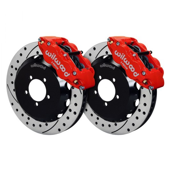 Wilwood® - Street Performance Drilled and Slotted Forged Narrow Superlite Front Brake Kit