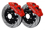 Wilwood® - Street Performance Drilled and Slotted AERO6 Front Brake Kit