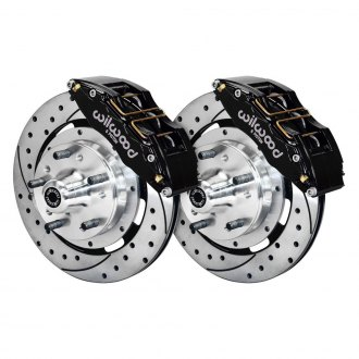Wilwood® - Street Performance Drilled and Slotted Drum-to-Disc Conversion Brake Kit