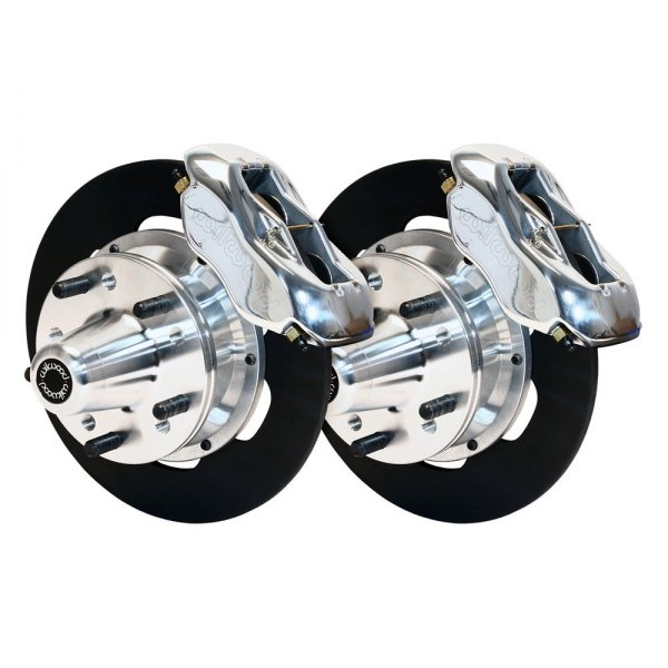 Wilwood® - Drag Race Plain Rotor Forged Dynalite Caliper Front Brake Kit