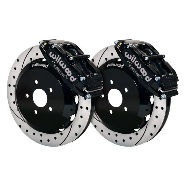 Wilwood® - Street Performance Drilled and Slotted Billet Narrow Superlite 6 Front Brake Kit