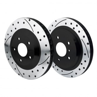 Wilwood® - SRP Dimpled and Slotted Vented 1-Piece Brake Rotors