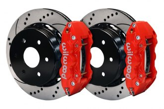Wilwood® 140-9407-DR - Street Performance Drilled and Slotted AERO4 Rear Brake Kit