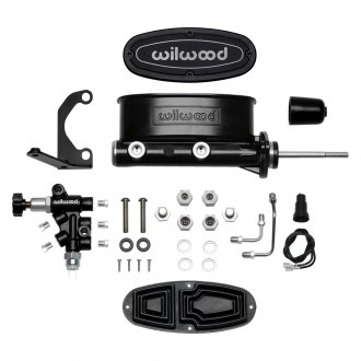 "Wilwood® - 7/8"" Bore Black High Volume Tandem Master Cylinder Kit"