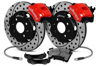 Wilwood® - Combination Parking Caliper Drilled and Slotted Brake Kit