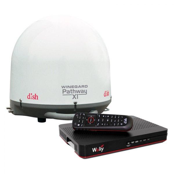 Winegard pa2000r pathway x1 white portable satellite - Antena satelite interior ...