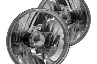"Winjet® - 7"" Round Chrome Euro Headlights"