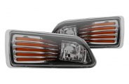 Winjet® - Chrome OEM Style Fog Lights with Orange Strips