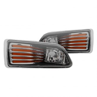 Winjet® - Yellow OEM Style Fog Lights with Orange Strips