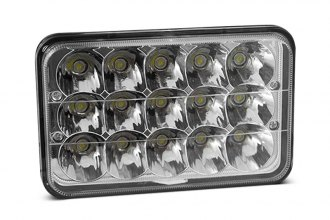 "Winjet® - 4x6"" Rectangular Chrome LED Headlights Off-Road Use Only"