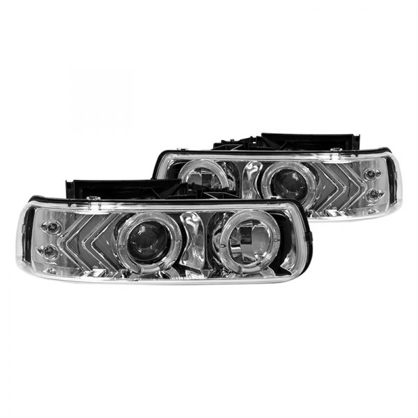 Winjet® - Chrome Halo Projector Headlights