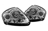 Winjet® - Chrome / Clear Halo Projector Headlights