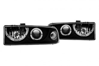 Winjet® - Black/Chrome Halo Projector Headlights