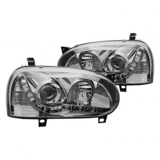 Winjet® - Chrome Projector Headlights with LED DRL