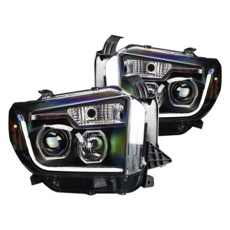 Winjet® - Black Projector Headlights with DRL