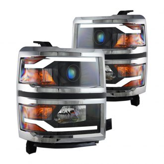 Winjet® - Black LED DRL Bar Projector Headlights