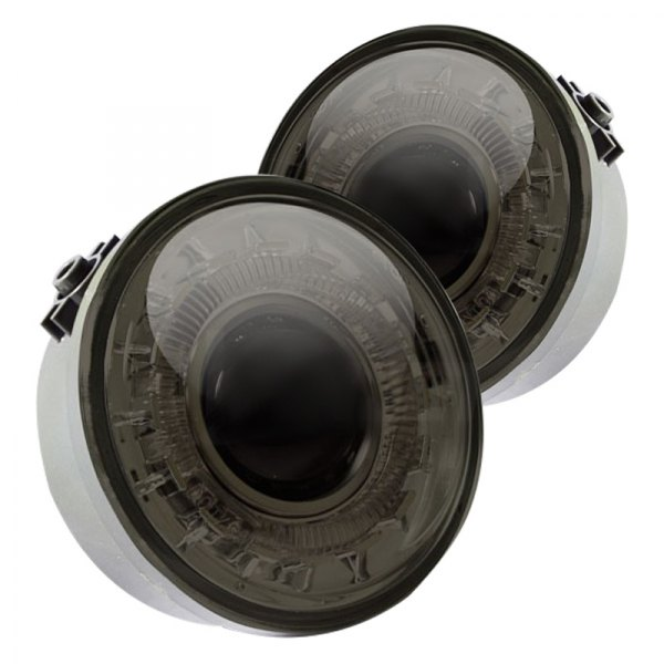 Winjet® - Driver and Passenger Side Smoke Halo Projector Fog Lights