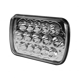 "Winjet® - 4x6"" Rectangular Chrome LED Headlight Off-Road Use Only"