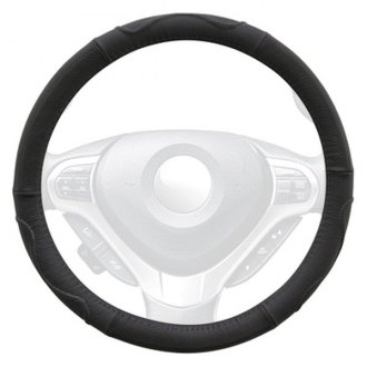 Winjet® - Genuine Leather Steering Wheel Cover with Top And Side Curve Pattern