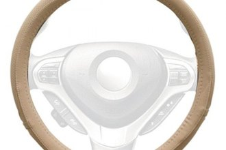 Winjet® - Beige Faux Leather Steering Wheel Cover